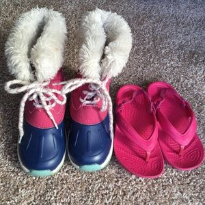 Carter's Boots and Crocs Toddler Girls Size 9
